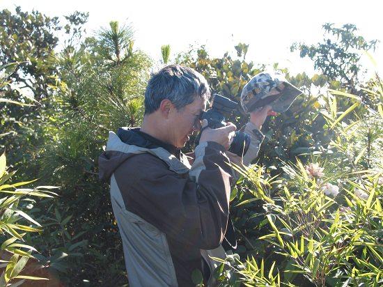 野生动物摄影师奚志农到哀牢山考察